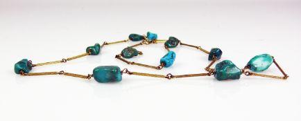 Halskette Gliederkette in 8ct GG; mit