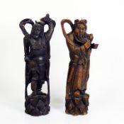 2 div. Figuren (20.Jh.) jeweils Holz