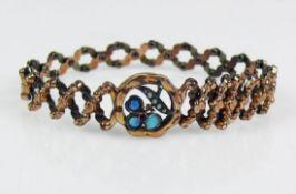 Armband (um 1900) 8ct GG; 13,5g;
