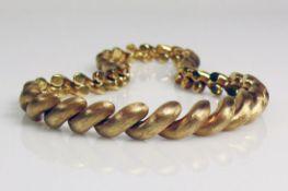 Halskette 14ct GG; Kordel ähnlicher