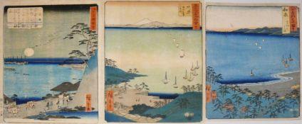 HIROSHIGE, Ando (1797 - 1858) 3 div.