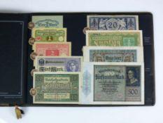 Album Reichsbanknoten mit 80