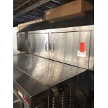 77 inch stainless steel wall cabinet with three doors