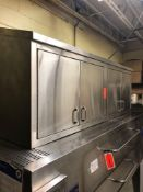 72 inch stainless steel four-door wall cabinet