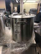 21 L stainless steel stockpot with cover