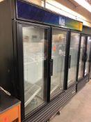 True three glass door refrigerator