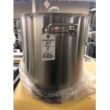 50 L stainless steel stockpot with cover