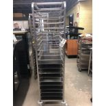 Stainless steel cookie rack with racks and trays