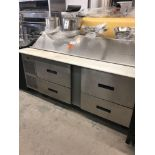 Randell 72 inch sandwich unit with drawers