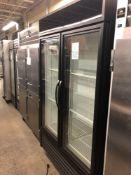 True GDM 43 two door glass cooler