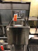Krowne single bay bar dump sink