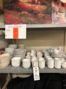 Lot of assorted plates bowls mugs espresso cups