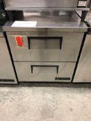 True 27 inch worktop freezer with drawers