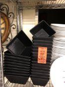 Assorted square black bowls