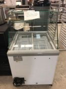 Excellence model HP 6LD ice cream freezer with glass shield