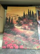 Oil on canvas print