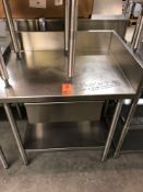"""33"""" x 24"""" all stainless steel table with drawer and backsplash"""
