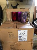 Lot assorted color highball glasses