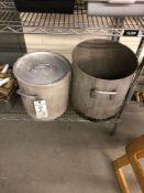 Assorted aluminum stock pots