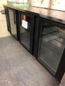 True three door back bar refrigerator