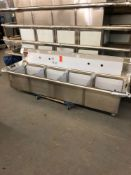 Cecilware four compartment sink no drain boards