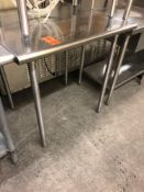 """36"""" x 30"""" stainless steel table"""