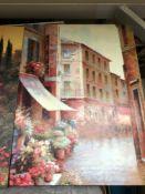 Oil on canvas print cafe