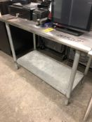 """24"""" x 48"""" stainless steel top table"""