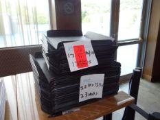 (41) Assorted Black Trays