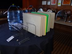 (1) Lot Cutting Boards With Rack Holders