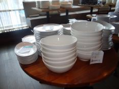 (130) Assorted Dinner Plates, Bowls, Platters Etc