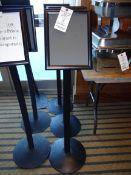 (3) Single Pedestal Metal Sign Boards