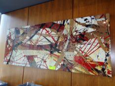 "(1) Wall Decoration. 73"" x 28"""