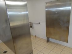 (1) Stainless Steel Handicapped Restroom Partition.