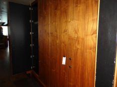 """(1) 4-Door Wood Cabinet 9' X 94"""""""