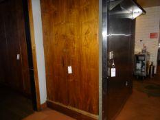 """(1) 2-Door Wood Cabinet 50"""" X 94"""""""
