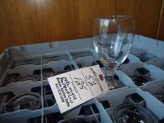 (125) Footed Water Glasses 10 1/2 oz with 5 Racks
