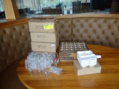 (1) Lot On Table. Glassware Decanters, 3 Section Dishes
