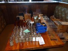 (1) Lot Salt & Pepper Shakers Etc. Lot on Table