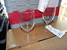 (120) Footed Water Glasses - Racks Not Included