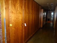 """(1) 6-Door Wood Cabinet 17' X 94 """""""