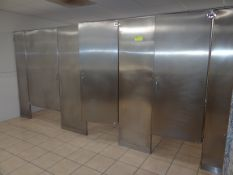 (3) Stainless Steel Restroom Partitions.