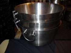 (3) Large S/S Ice Buckets