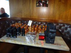 (1) Lot Salt & Pepper Shakers Etc.