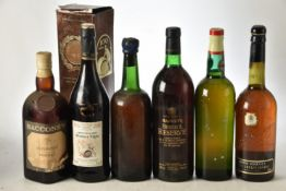 Mixed Sherry and White Port significant age 6 bts