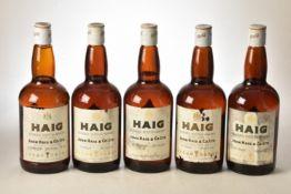 Haig Gold Label 1960's bottling 26 2/3rds Fl Oz 70% Proof 5 bts