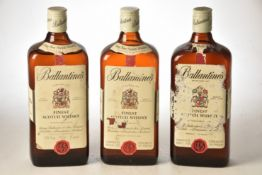Ballantines Finest Scotch Whisky 1960's Bottling 26 2/3rds Fl Oz 70% proof 3 bts
