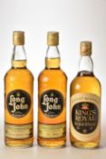 Kings Royal Scotch Whisky 26 2/3rds Fl Oz 70% proof 1 bt Long John Scotch Whisky 26 2/3rds Fl Oz 70%