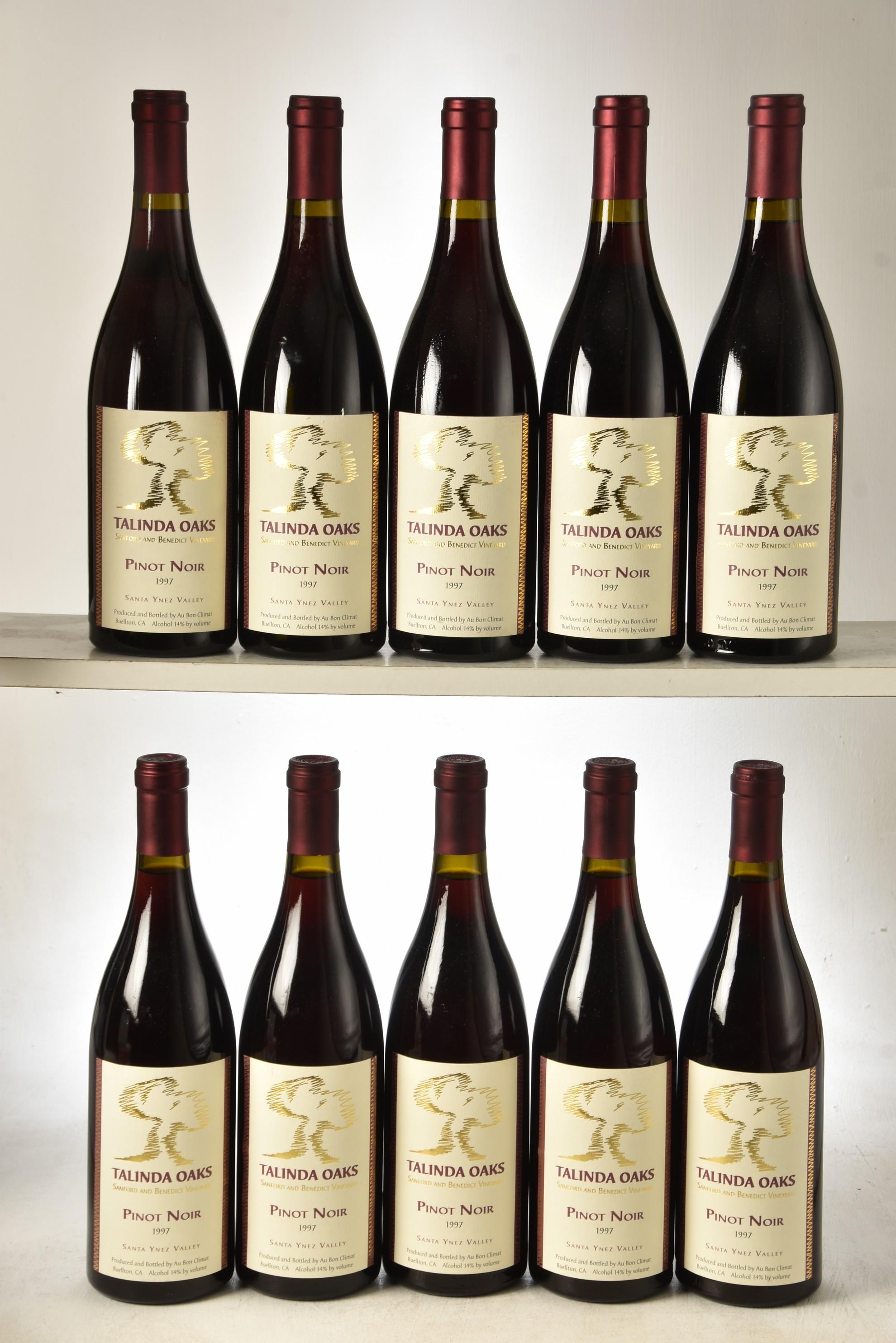 Talinda Oaks Pinot Noir 1997 10 bts