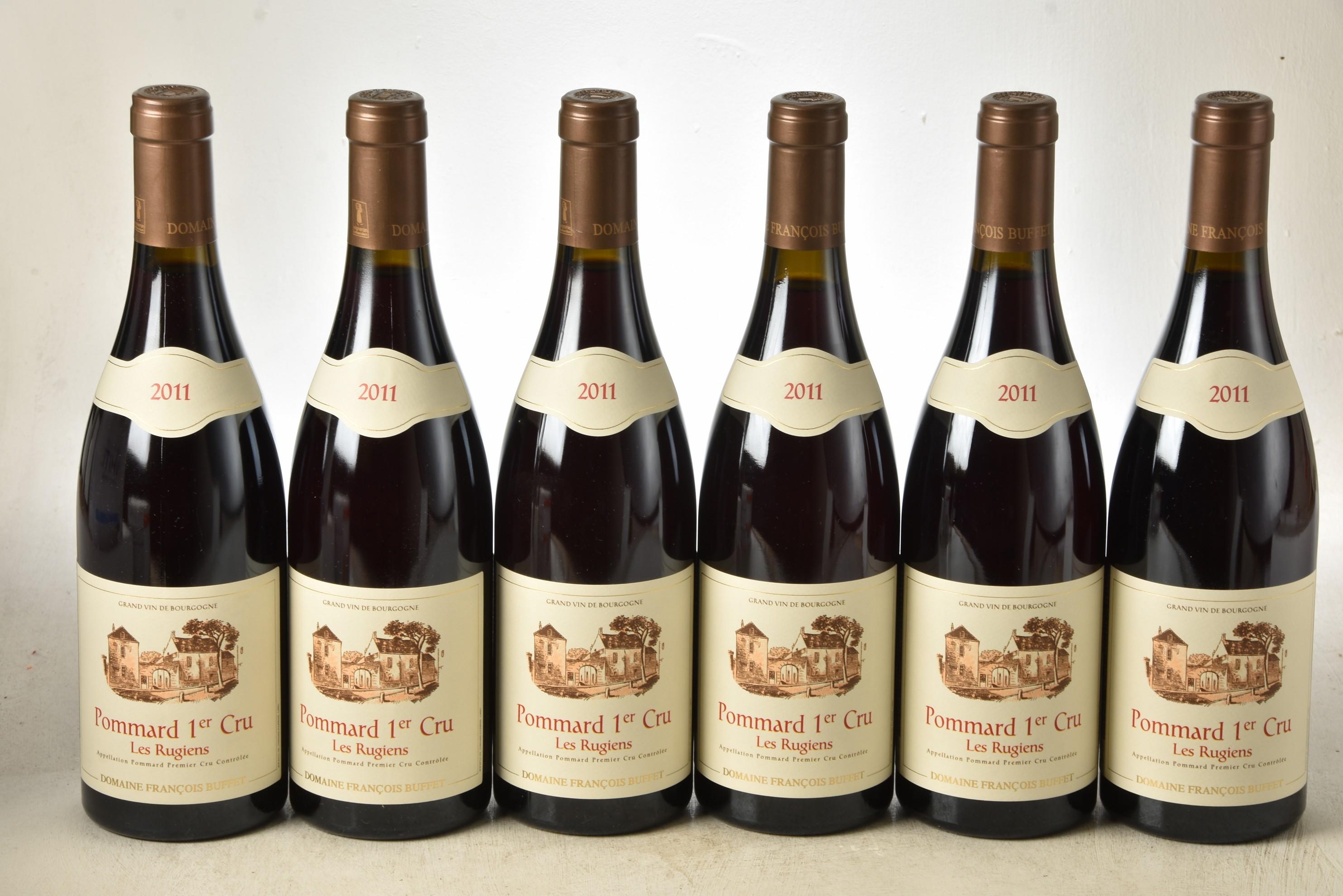 Pommard Domaine Rugiens Francois Buffet 2011 6 bts OCC In Bond